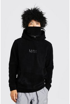 Black MAN Official Snood In Polar Fleece