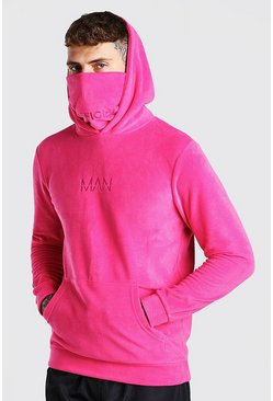 Pink MAN Official Snood In Polar Fleece
