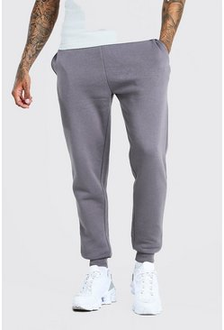 Charcoal Basic Skinny Fit Joggers