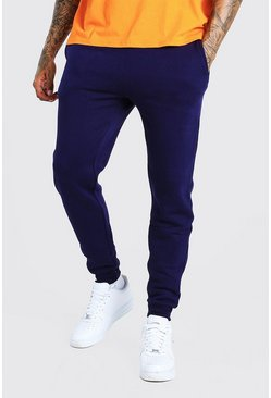 Navy Basic Skinny Fit Fleece Joggers