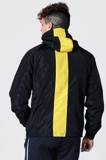 Yellow Man Dash Stripe Hood Cagoule