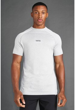 MAN Active Seamless T-Shirt, Grey gris