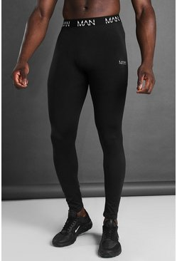 Black MAN Active Seamless Tights