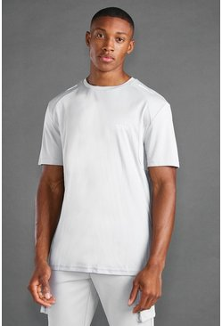 Grey MAN Active T-shirt With Reflective Detail