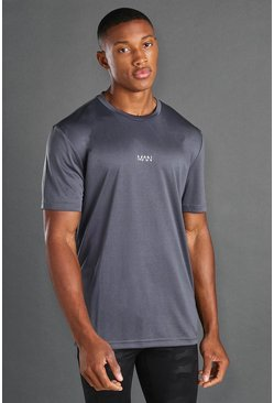 Charcoal grey MAN Active Utility T-shirt