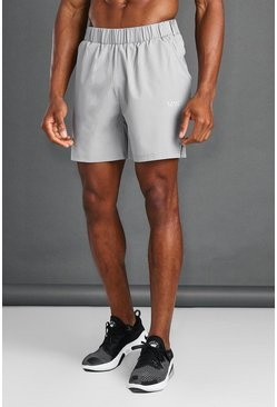 Grey MAN Active Short With Waistband Detail