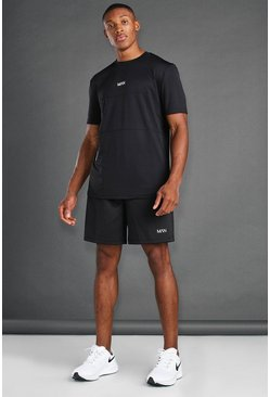 Black svart MAN Active Utility Short Set