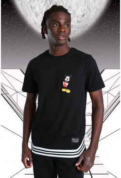 Black Disney Mickey MAN Official T-Shirt With Tape