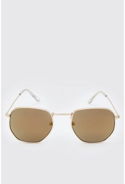 Metal Rectangular Sunglasses
