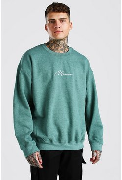 Green MAN Signature Oversized Sweat