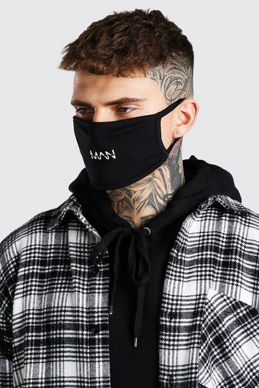 Black MAN Dash Snood And Fashion Mask Set