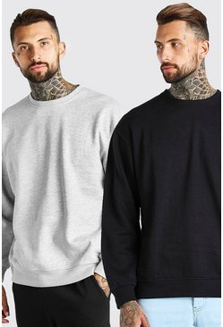 Multi 2 Pack Oversized Sweatshirt