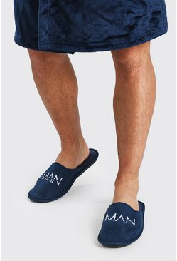 MAN Dash Velour Slipper, Navy marine