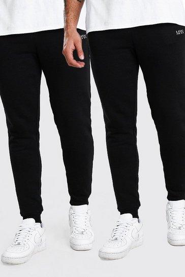 Black 2 Pack Slim Fit Original MAN Joggers