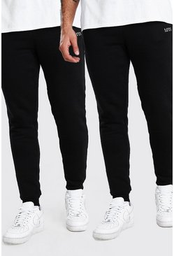 Black 2 Pack Slim Fit Original MAN Joggers