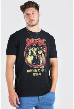 Black Big & Tall ACDC License T-Shirt