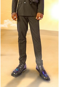 Black svart Burna Boy Slim Fit Suit Trousers