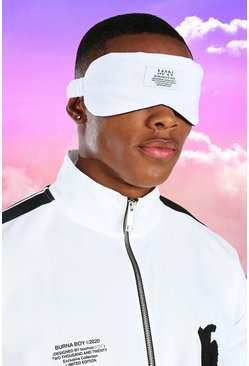 White Burna Boy Eye Mask