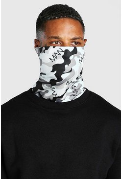 Grey Man Dash Camo Print Jersey Snood