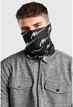 Black MAN Script And Plain Snood Pack