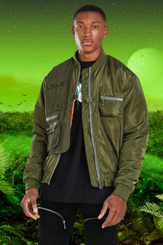 Ladies Long Sleeve Zip Up Longline Tunic Bomber Jacket MA1 Top Coat Outwear UK