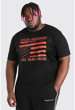 Black Big And Tall Rage Against License T-Shirt