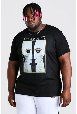 Black Big And Tall Pink Floyd License T-Shirt