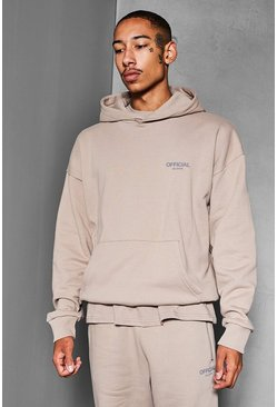 Taupe beige Official Collection Heavyweight Hoodie