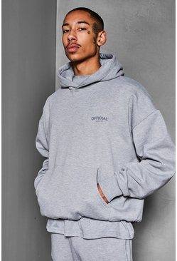 Grey marl grey Official Collection Heavyweight Hoodie