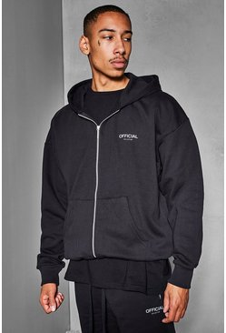 Black Official Collection Heavyweight Zip Hoodie