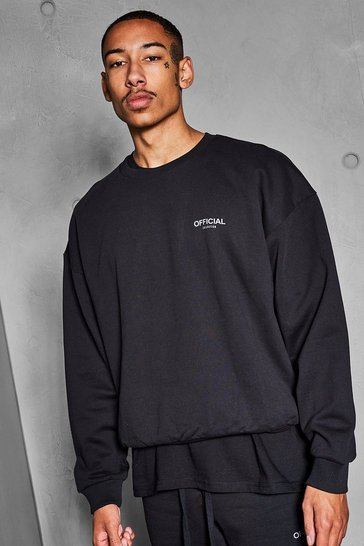 Black Official Collection Heavyweight Sweater