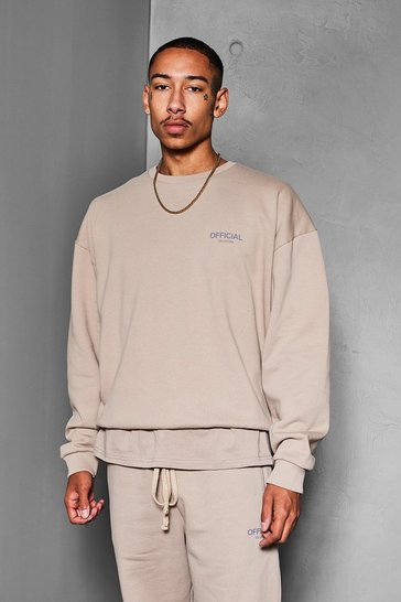 Taupe beige Official Collection Heavyweight Sweater