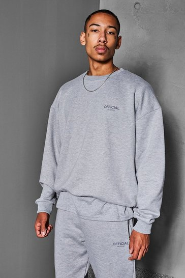 Grey marl grey Official Collection Heavyweight Sweater