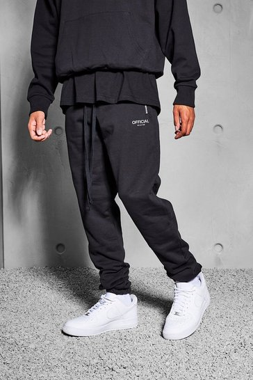 Black Official Collection Heavyweight Jogger
