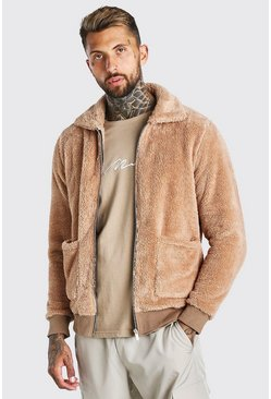 Borg Harrington Jacket, Taupe beige