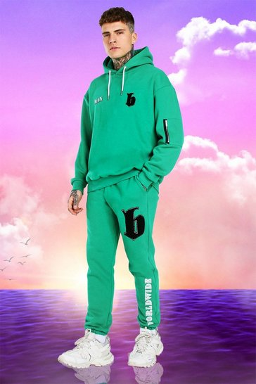 Green Burna Boy Oversized B Tracksuit