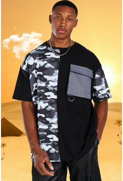 Burna Boy Oversized  Utility Camo T-Shirt