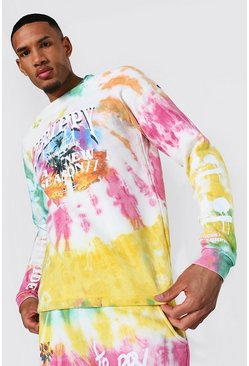 Yellow Tall Oversized Man Trippy Tour Sweater