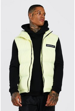 Yellow MAN Branded Padded Gilet