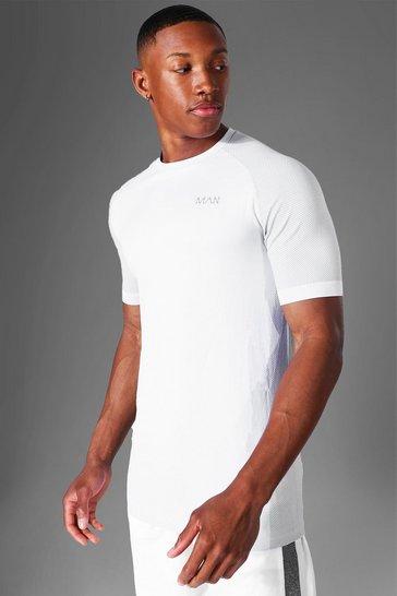White Man Active Seamless T-shirt