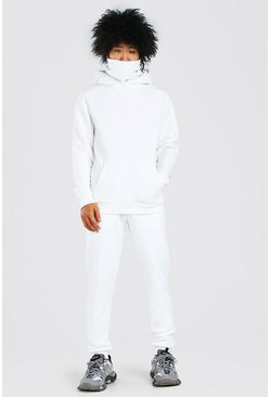 Ecru white Original MAN Snood Tracksuit