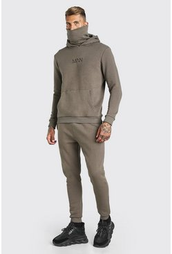 Original MAN Snood Tracksuit, Khaki kaki