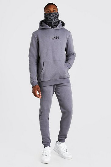 Slate grey Original MAN Camo Snood Tracksuit