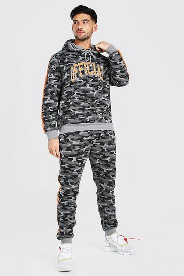 Khaki Official Camo Embroidered Hooded Tracksuit