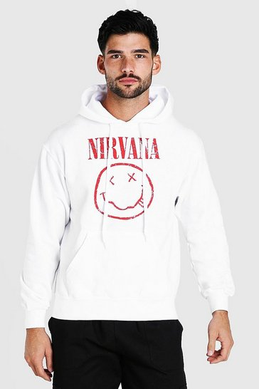 White Nirvana License Hoodie
