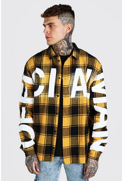 Yellow Official MAN Oversized Check Shirt