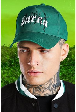 Green Burna Boy Lightening Baseball Cap