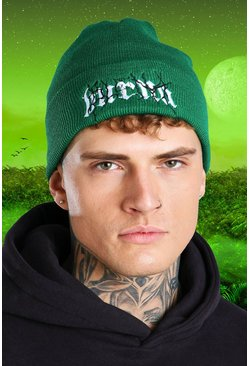 Green Burna Boy Lightening Chunky Beanie