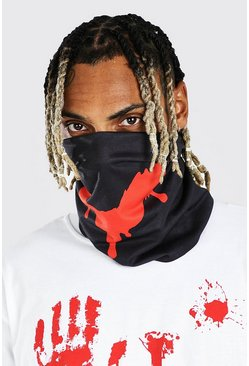 Black Halloween Bloody Smile Snood