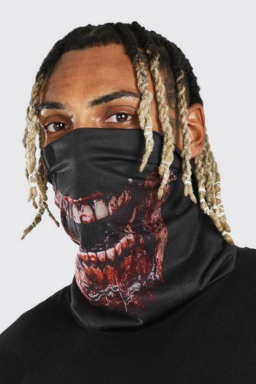 Black Halloween Zombie Mouth Snood